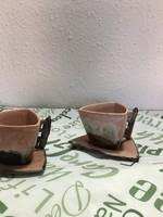 Modern ceramic coffee cups (2pcs)