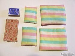 Old retro toy baby bedding set: mini pillow, duvet