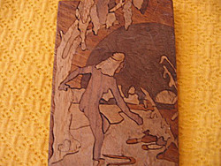 Tiny marquetry mural