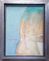István Püspöky, worker-award-winning painter-graphic artist (1950-2018) oil painting