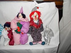 Porcelán fejű bohócok