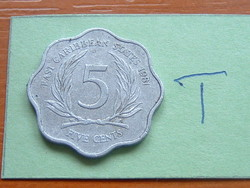Eastern Caribbean States 5 cents 1981 alu. #T
