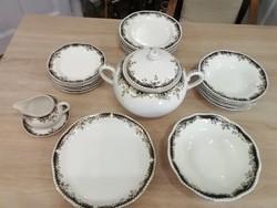 Zsolnay sissy patterned food-coffee-sandwich set