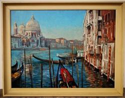 Oil painting by György Fábos (1950-) in Venice with original guarantee!