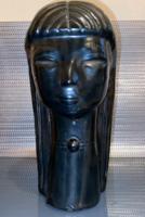 Glazed art deco female ceramic sculpture