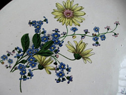 Large, unforgettable, beautiful, hand-painted wall bowl with daisies