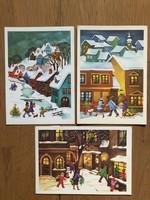 Aranyos Karácsonyi képeslap - B. Lazetzky Stella rajz  - ár / db
