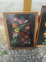 Hand embroidered framed pictures