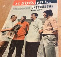 A Válogatott 500.mérkőzése felé 1963-tól