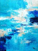 """""""A tenger árnyalatai No.001"""" 2021.Absztrakt tájkép, modern festmény,Eredeti alkotás!"""