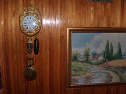 Flemish clock, copper, spared, half-percussion wall clock