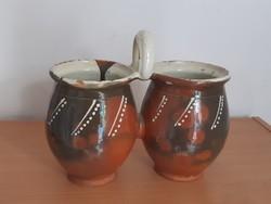 Double silk, twin pot, Transdanubia