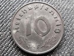 Németország Horogkeresztes 10 birodalmi pfennig 1941 F (id36011)