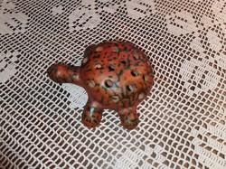 Tófej kerámia, teknős ikebana - ép
