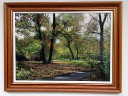 At half price zoltán hornyik walks in the park framed 64x84cm