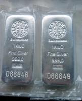Befektetési 1 kg ezüst tömb  999.0 Switzerland