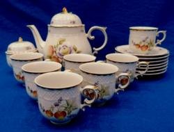 Rarity! Crow houses sophie fruit pattern tea set
