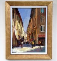 Zoltán Hornyik Paris swirl framed 50x40cm