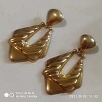 Showy gold-plated silver earrings
