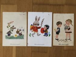 Aranyos Húsvéti képeslapok -  Sóti Klára  rajz    -    ár / db