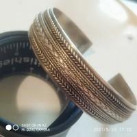 Rugged silver bracelet 30.5G
