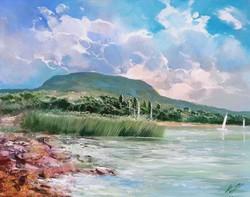 Adilov Kabul Balaton Badacsony beach 40x50cm