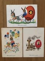 Aranyos Húsvéti képeslapok - Boór Vera rajz    -    ár / db