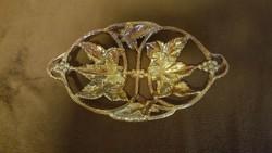 Antique grape motif eosin enamel ornament bowl