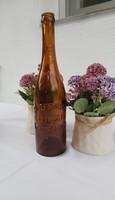 Extra rare beer bottle zilzer adolf offspring kecskemét on the back of Kőbánya civilian beer collection piece