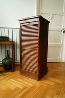 Antique roller shutter cabinet from the turn of the century