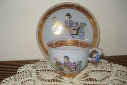 Herend teacup and saucer with mg pattern
