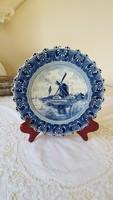 Delft blauw, wavy-edged decorative plate