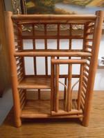 Polc bambusz 3 szintes ajtóval