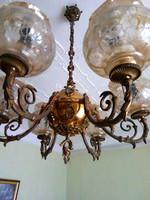 Gilded antique bronze chandelier