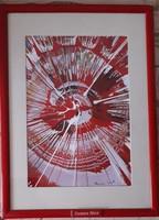 Spin festmény Damien Hirst jelzéssel