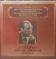 Piatigorsky plays cello double lp vinyl record on vinyl
