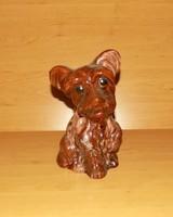 Retro glazed ceramic dog figure mátra memory 19.5 cm (2p)