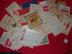 Lots of old Russian and GDR mockup assembly drawings instruction sheets in one as shown