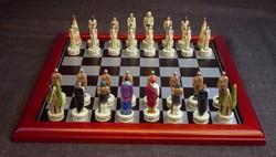 Native American Chess Set Metal (1451)