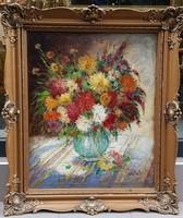 Gy. Riba János (1905-1973) : Virágcsendélet