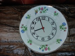 Beautiful raven house porcelain clock