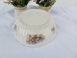 24.5 cm outside inside floral patty bowl peasant bowl nostalgia piece peasant decoration