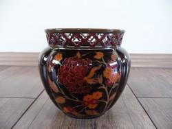 Zsolnay eosin glazed flower pot