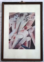 Print from the abstract painting of Alexander Bortnyik