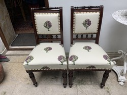Beautifully renovated, unique artichoke old German chairs