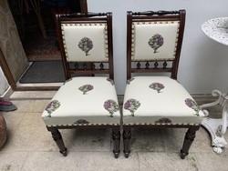Gyönyörűen felújított, egyedi articsókás ónémet székek