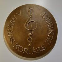 Magyar kortárs zenéért, bronzplakett