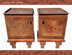 Great art deco bedside table pair