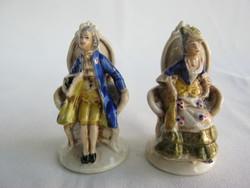 Altwien porcelain miniature baroque couple