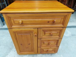 For sale an extra deep 4 drawer, shelf with pine chest of drawers. Furniture is beautiful, in new condition and of very good quality